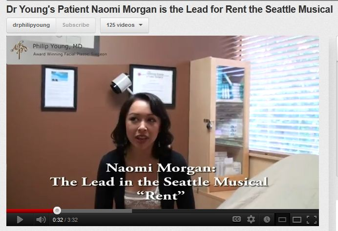 "Dr.  Philip Young's client Naomi Morgan is the lead in Seattle Musical ""Rent"""